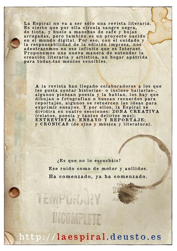 Diseño del artículo promocional en la revista de Deusto.