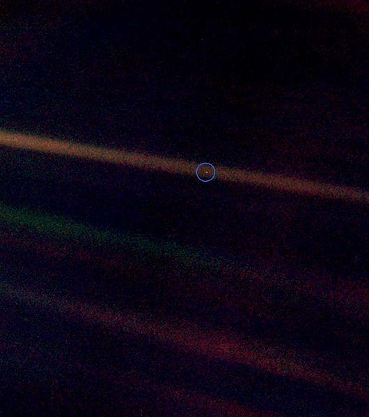 Punto azul pálido, Voyager 1 (1990)