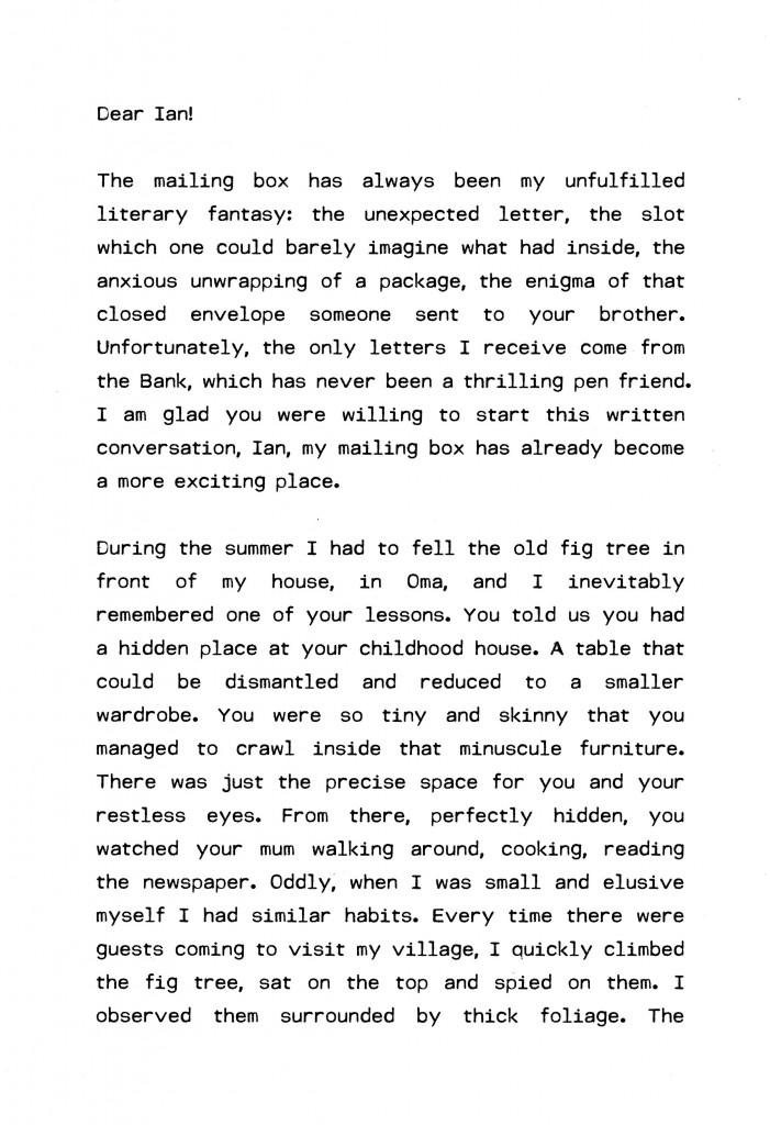 carta a Ian 1