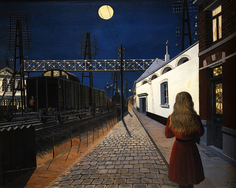 Paul Delvaux. Loneliness. 1956